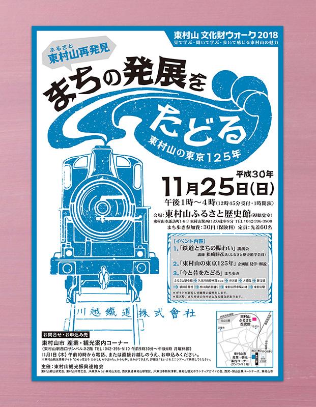 東村山文化財ウォーク2018ポスター